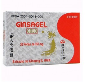TONGIL IL HWA KOREAN GINSENG GINSAGEL GOLD 20 PERLAS