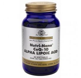 SOLGAR NUTRI-NANO CoQ-10 + AC. ALFA LIPOICO 60CAP