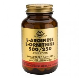 SOLGAR L-ARGININA /L-ORNITINA 500/250MG 50CAP