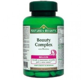 NATURE'S BOUNTY BEAUTY COMPLEX CON BIOTINA 60COMP