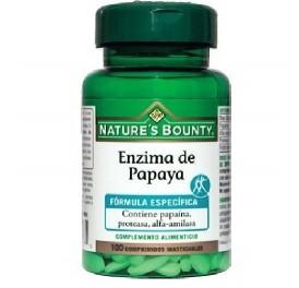 NATURE'S BOUNTY ENZIMA DE PAPAYA MAST 100COMP