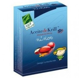 CIEN X CIEN NATURAL ACEITE KRILL NKO® NIÑOS 90C