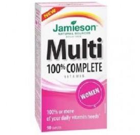 JAMIESON MULTI 100% COMPLETE WOMEN MULTIVITAMINAS 90COMP