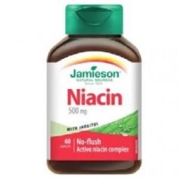 JAMIESON NIACIN 500MGV+ INOSITOL 150MG 60CAP