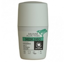 URTEKRAM DESODORANTE MEN ALOE Y BAOBAB BIO ROLL ON 50ML