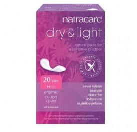 NATRACARE COMPRESA INCONTINENCIA DRY & LIGHT 20UD