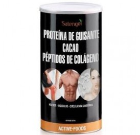 ACTIVE FOODS PROTEINA GUISANTE COLAGENO CACAO BIO 500GRS