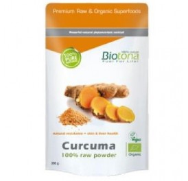 BIOTONA CURCUMA RAW POWDER  BIO 200GRS