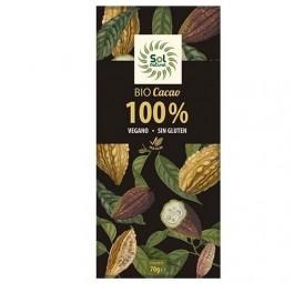 SOLNATURAL CHOCOLATE VEGANO PURO 100% BIO 70GRS