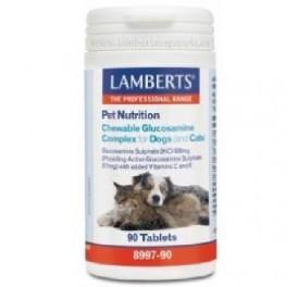 LAMBERTS PET NUTRITION COMPLEJO GLUCOSAMINA PERROS GATOS 90COMP MAST
