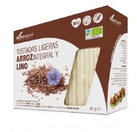 ALECOSOR BIO TOSTADAS ARROZ Y LINO 25UDS 90GR