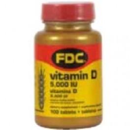 FDC VIT D 5000UI 100COMP