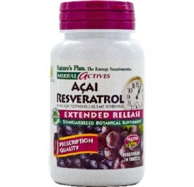 NATURE'S PLUS AÇAI RESVERATROL 30COMP