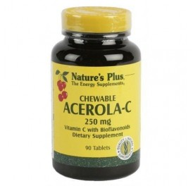 NATURE'S PLUS ACEROLA C MASTICABLE 250MG 90COMP