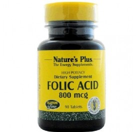 NATURE'S PLUS ACIDO FOLICO 90COMP